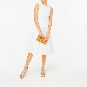 NWT J Crew Factory White Tiered Sleeveless Dress